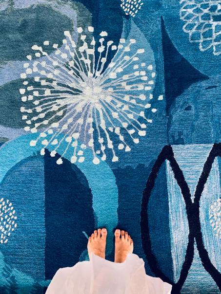 MARREN Indigo carpet (Detail)