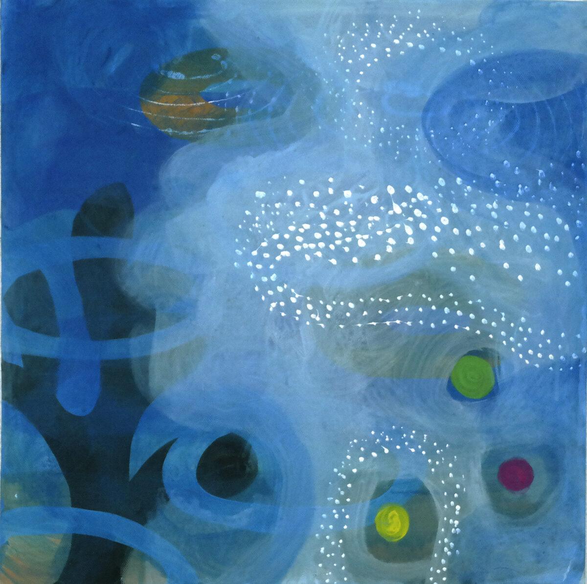 MVS, Blaue Strömung 1, Painting